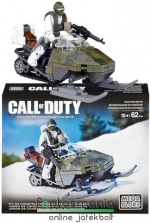 62 elemes Call of Duty Snowmobile + Kommandós katona minifigura szett Mega Bloks Mountain Recon